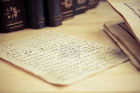 Photo pour Vieille lettre âgé - image libre de droit