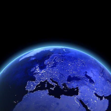 Europe 3d render