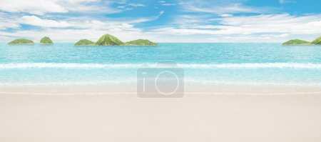 Photo for Tropical islands in ocean. Panoramic shot - Royalty Free Image