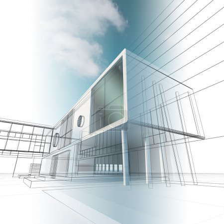 Photo pour Architecture de construction. Rendement 3D de haute qualité - image libre de droit