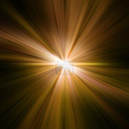 Photo pour Des rayons d'or. Rayons fond abstrait - image libre de droit