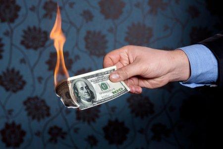 Fire burn one hundred dollars