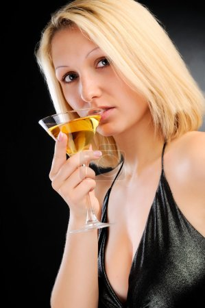 Photo pour Sexy blonde diner - image libre de droit