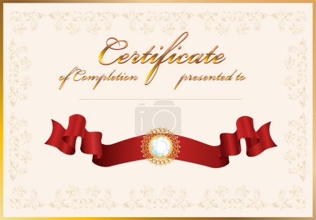 Certificate of completion.Template.