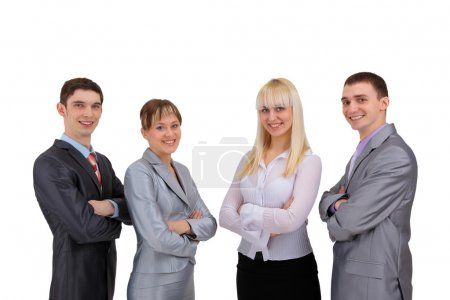 Photo for Portrait of happy smiling successful business team at office - Royalty Free Image