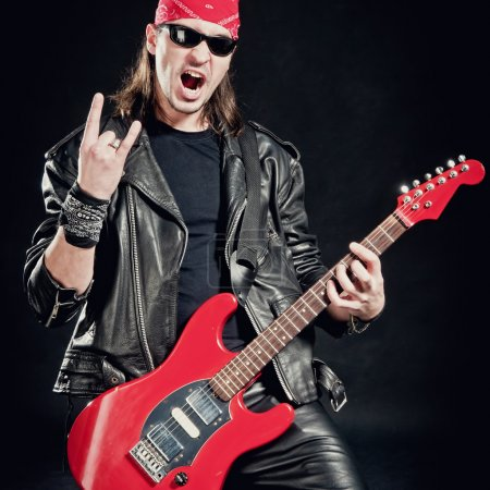 Rock-star playing a concert