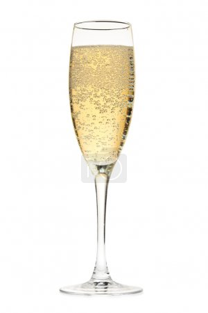 Photo for Champagne glass. Isolated on white background - Royalty Free Image