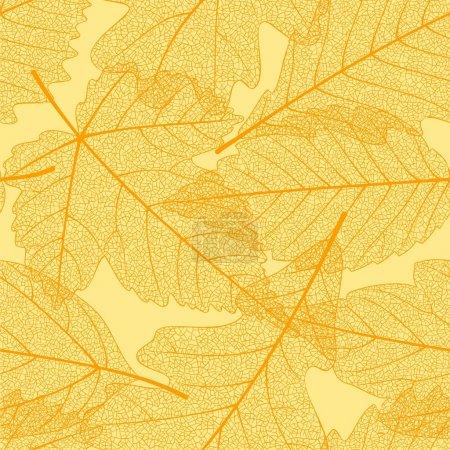 Ilustración de Patrón de las hojas de otoño sin costuras - Imagen libre de derechos