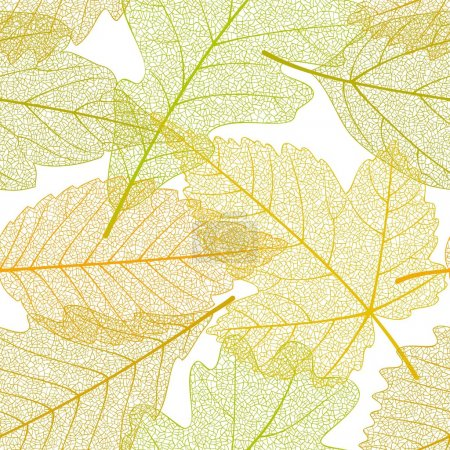 Seamless autumn leaves pattern 01