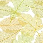 Seamless autumn leaves pattern 01...