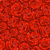 Vector red Rose seamless background 06