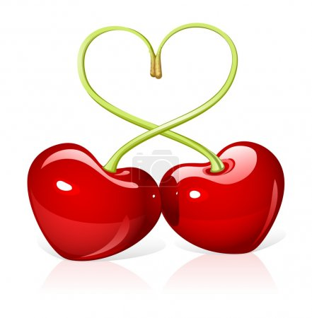 Illustration for Cherry love - Royalty Free Image