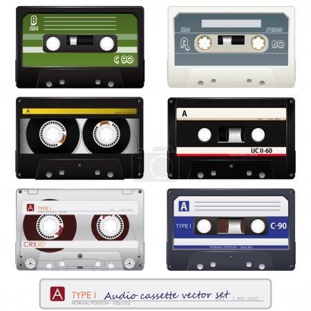 Vector audio cassettes