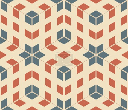 Illustration for Pop art seamless texture, abstract pattern; vector art illustration - Royalty Free Image