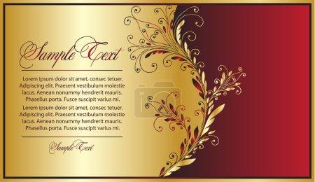 Illustration for Elegance red-gold background - Royalty Free Image