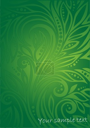 Illustration for Floral green background - Royalty Free Image