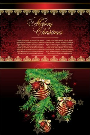Merry Christmas Elegant Suggestive Background for Greetings C