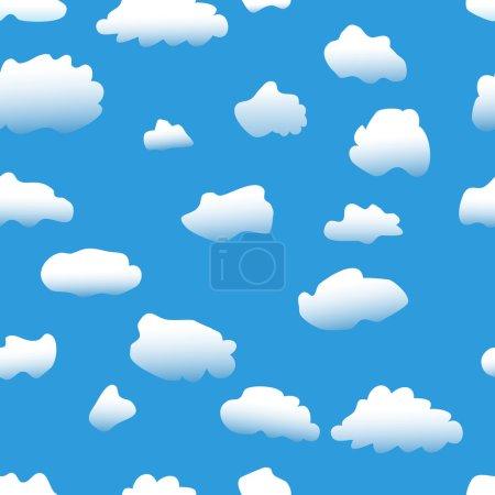 Photo pour Fond sans couture : ciel & nuages papier peint - image libre de droit