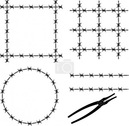 Barbed wire. stencil