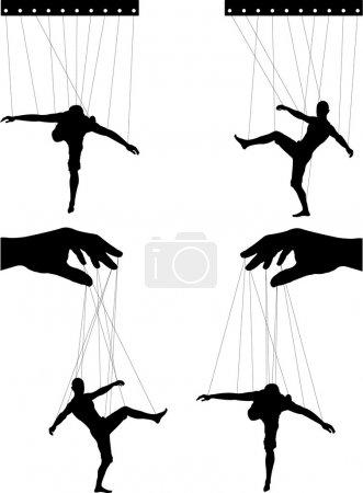 Marionettes. vector illustration for design...