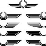 Set of insignias. stencils. vector illustration...