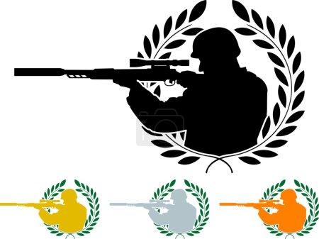 Stencil of sniper