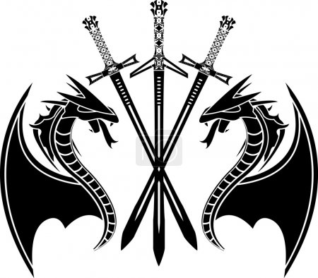 Dragons and swords