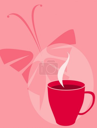 Illustration for Vector image of tea cup for coffee break cards, posters and menu - Royalty Free Image