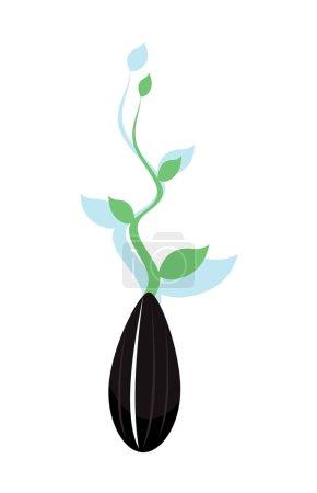 Illustration pour Image vectorielle des graines de tournesol - image libre de droit