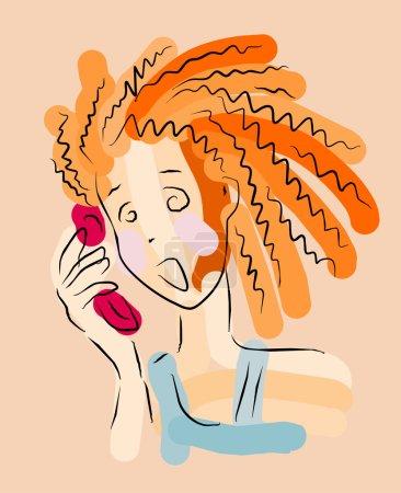 Illustration pour Image vectorielle de discours de panique - image libre de droit