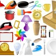 Set of vector home objects...