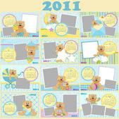 Baby's monthly calendar for 2011