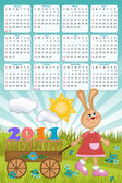 Baby's calendar for 2011