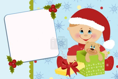 Illustration for Blank template for baby's greetings card or photo frame - Royalty Free Image