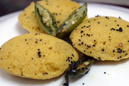 Indian Food Delicacy Dish Dhokla