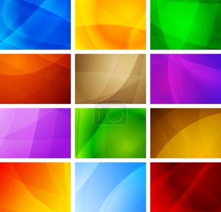 Illustration pour Ensemble de décors simples et vibrants. Illustration vectorielle Eps 10 - image libre de droit