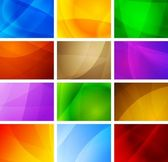 Set of vibrant simple backdrops Eps 10 vector illustration