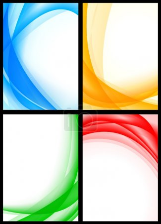 Illustration for Abstract multicolored waves on white backgrounds. Vector illustration eps 10 - Royalty Free Image