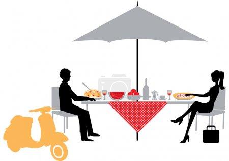 Photo pour Couple à un caf - image libre de droit