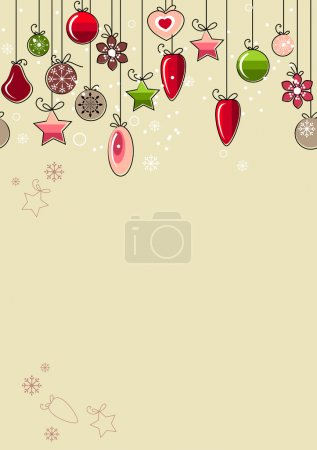 Christmas background with contour balls