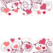 Saint valentine background with hearts