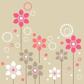 """Постер, картина, фотообои """"стилизованные цветы"""""""