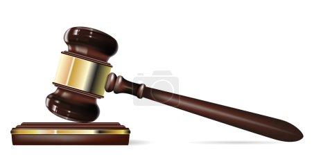Illustration pour Juge Gavel - image libre de droit