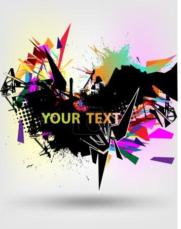 Illustration pour Abstraction techno design avec des éléments colorés . - image libre de droit