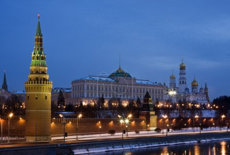 Moscow Kremlin by winter night