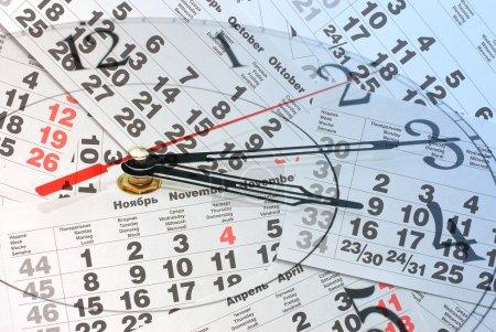 Composite of Clock and Calendar