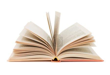 Foto de Abrir libro sobre fondo blanco - Imagen libre de derechos