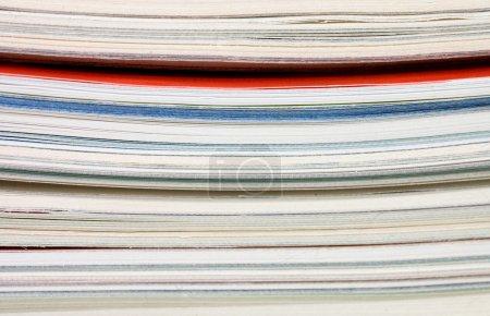 Pile of fresh magazines