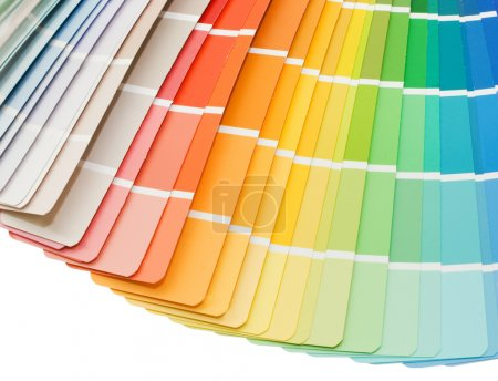 Farbführung zur Selektion isoliert auf weißem Hintergrund