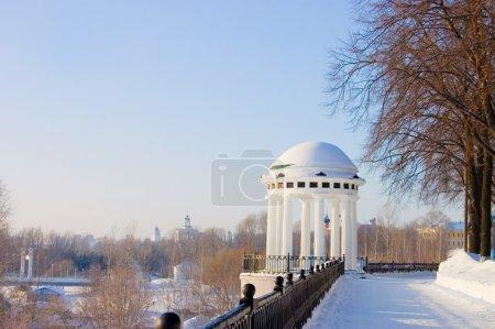Rotunda on river Volga quay in Yaroslavl
